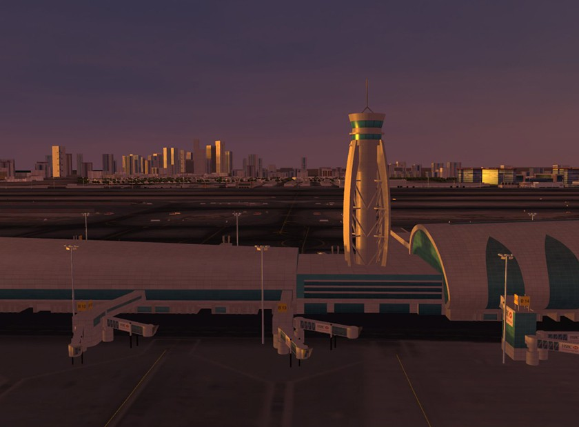 3D-Visualisierung DXB sunset