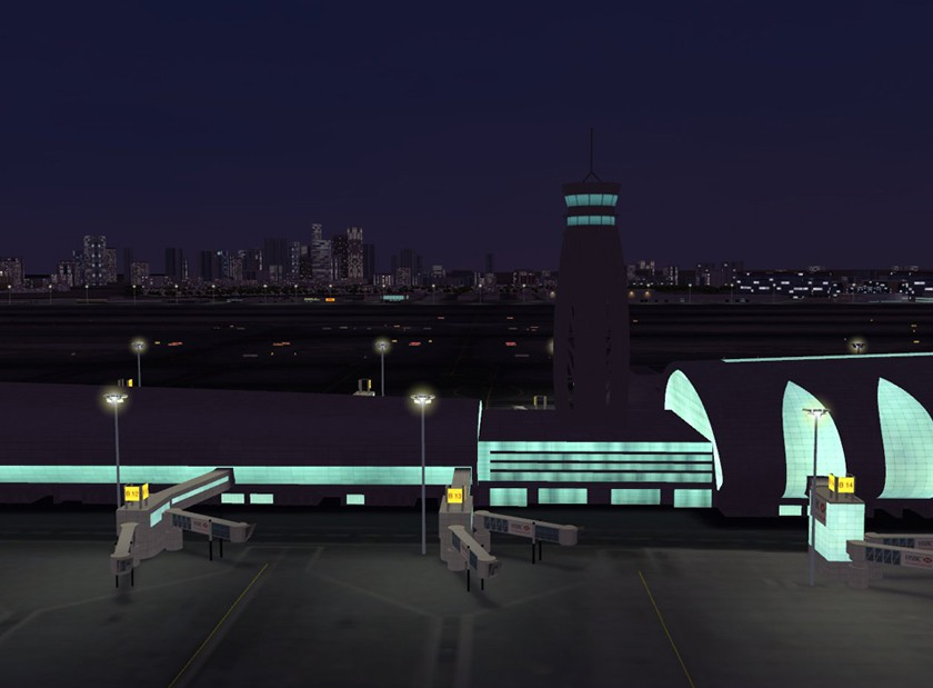 3D-Visualisierung DXB at night