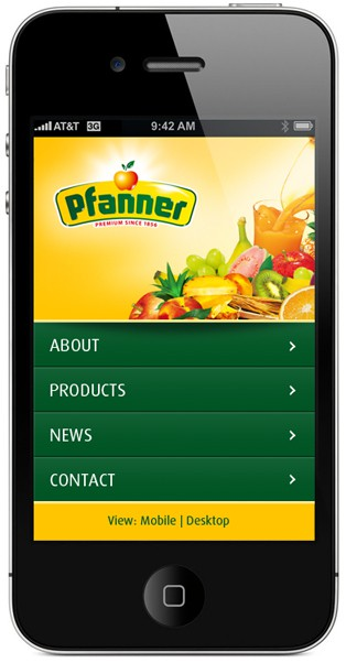 pfanner mobile website