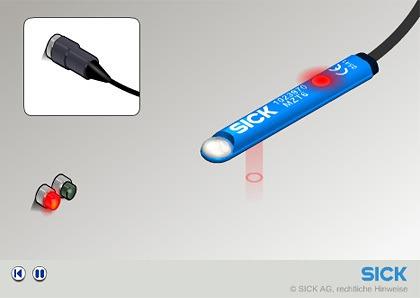 3D-Bild aus 3D-Animation Sick Sensor MZT6