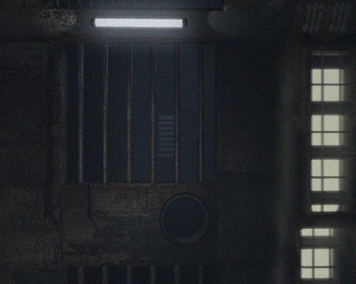 3D-Grafik Gefängniszelle