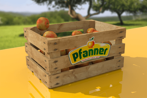 3D-Animation apple crate