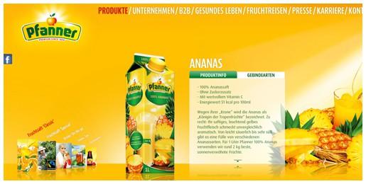 Pfanner Getränke GmbH  | Website Mit CMS