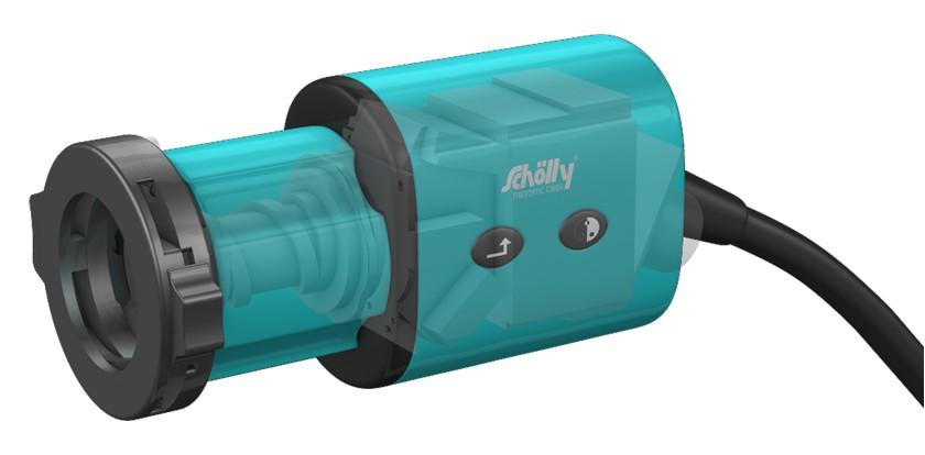 3D-Grafik einer Endoskop-Kamera