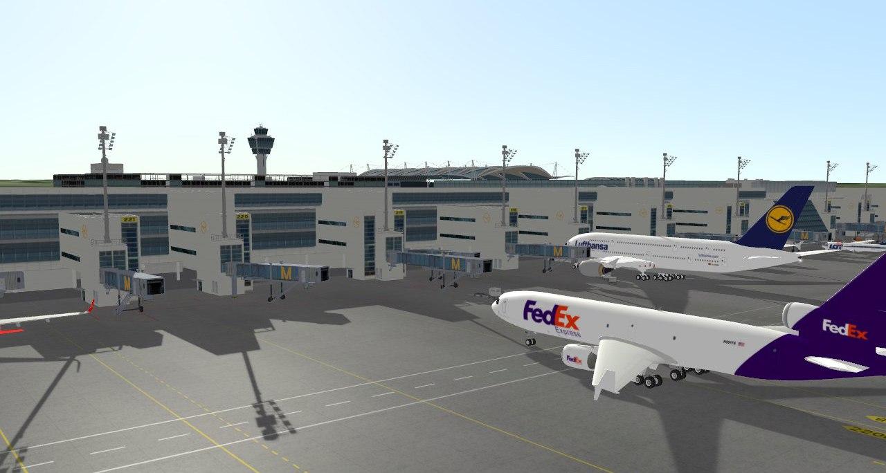 Munich-Airport Echtzeit-3D-Simulation